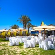 Banquet at the sea, Djerba, Tunisia - Stock Photo