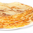 Stack of pancakes on the plate — Stock Photo