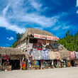 Stock Photo: Market place at mayruins in Coba