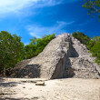 Stock Photo: MayNohoch Mul pyramid in Coba