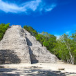 Stock Photo: MayNohoch Mul pyramid in Coba, Mexico
