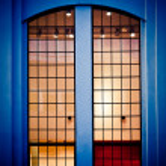 Mystic window illuminated on the inside — Stock Photo