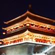 Drum tower at night, Xian, China — Stock Photo