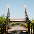 Footbridge to nowhere — Stock Photo