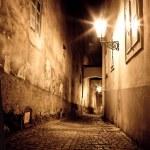 Mysterious narrow alley — Stock Photo