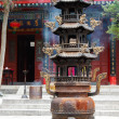 Taoist temple, Xian, China - Stock Photo