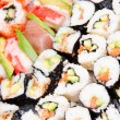 Sushi background with shallow DOF — Stock Photo