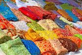 Textile in tunisian market — Stock Photo