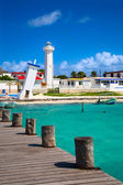 Lighthouses in Puerto Morelos, Mexico — Stock Photo