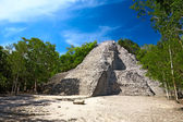 Mayan Nohoch Mul pyramid in Coba — Stock Photo