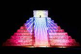 Light show on Chichen Itza, Mexico — Stock Photo