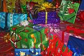 Geschenke hintergrund — Stockfoto