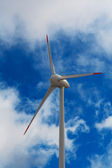 Wind-mill electric generating plant — Stock Photo