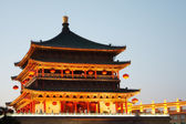 Bell Tower at night in Xian, China — Stock Photo