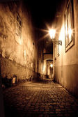 Mysterious narrow alley — Stock Photo