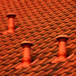 Tiled roof background — Stock Photo