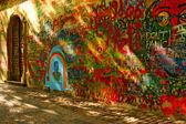 Lennon's Wall, Prague — Stock Photo
