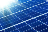 Solar panel with sunbeams — Stock Photo