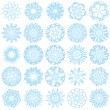 Vector set of 25 snowflakes — 图库矢量图片