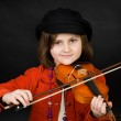 Girl practicing the violin — Stock Photo #2655299