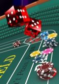 Casino craps 3 — Stock Photo