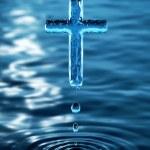 Haç kutsal su — Stok fotoğraf