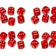 Red dice set — Stock Photo