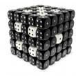 Dice cluster - Black n white — Stock Photo