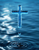 Cross of holy water — Stock Photo