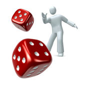 Throwing the Dice — Stock Photo