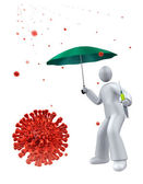 Vaccine as anti Flu protection — Stock Photo