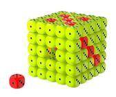 Incomplete task - Dice box — Stock Photo