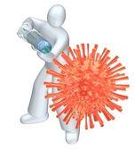Fight virus. — Stock Photo