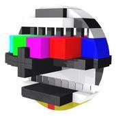 TV screen test — Stock Photo