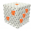 Dice stack - gray and orange — Stock Photo #2374930