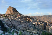 Volcanic landscape of Uchisar — Stock Photo