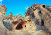Church in rock - ruins in Cappadocia — Stock Photo