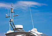 GPS and antenna on a boat — Stock Photo