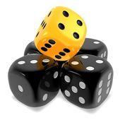 Unique one dice — Stock Photo