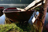 Boats in the morning — Stock Photo