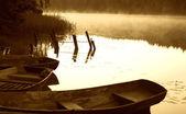 Barche al mattino — Foto Stock