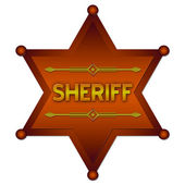 Sheriff badge — Stock Photo