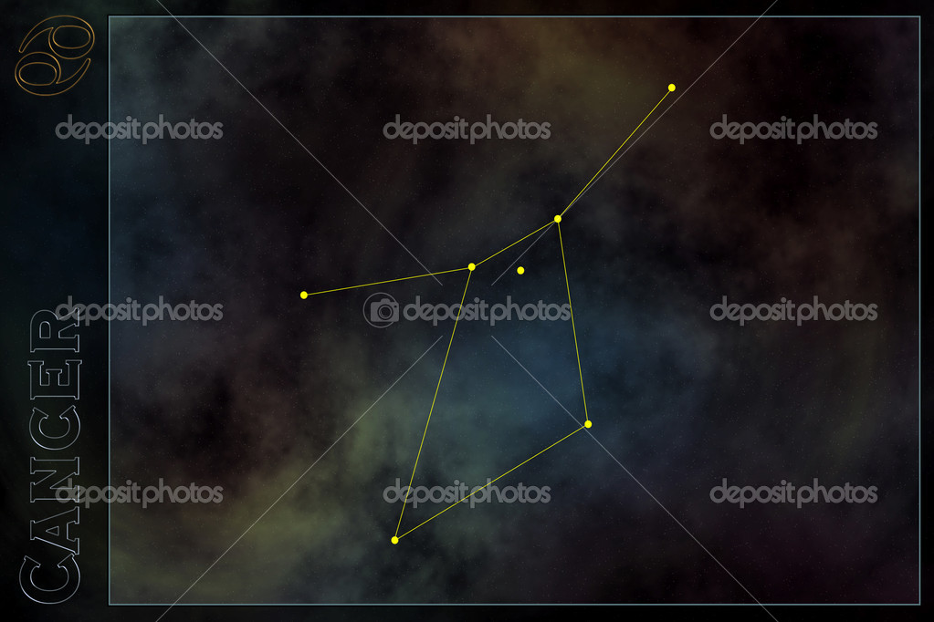 Схема созвездия зодиака с знак