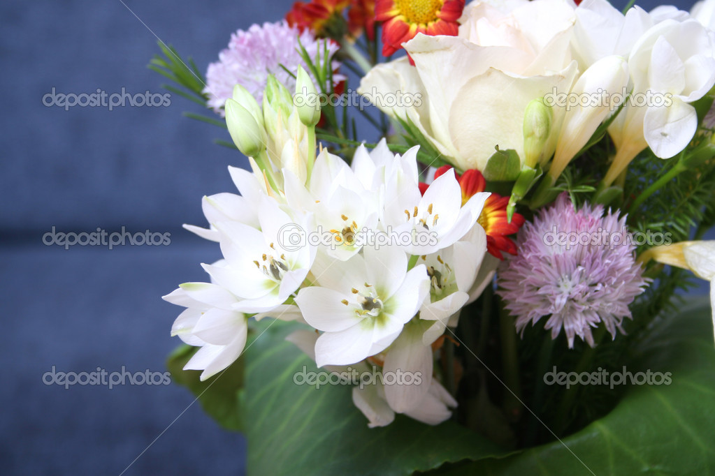 Various flowers bouquet close up — Stock Photo #2284501