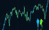 Chart background, currency exchange — Stock Photo