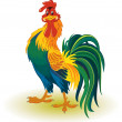 Colorful rooster — Stock Vector