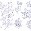 Stock Vector: Sketch of roses