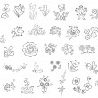 Royalty-Free Stock Imagen vectorial: Sketch of flowers