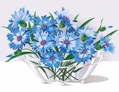 Cornflowers — Stock Vector