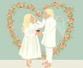 Dos ángeles — Vector de stock